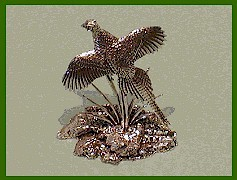rising pheasant sculpture