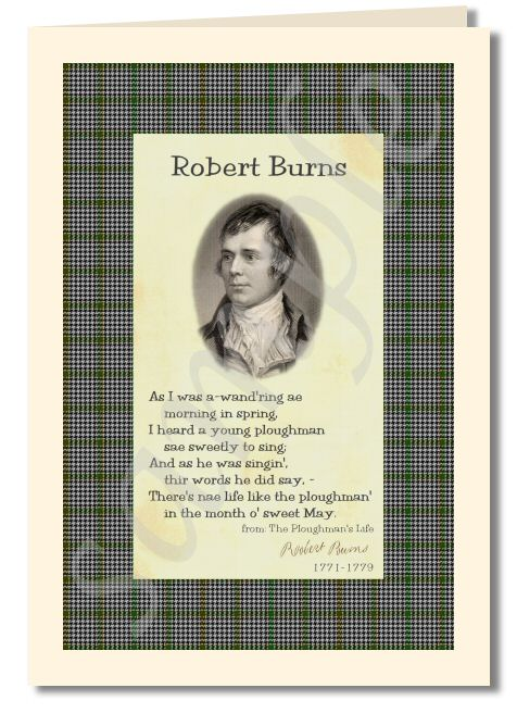 Robert Burns - extract from The Ploughman's Life greeting card