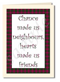 Chance made us neighbours card