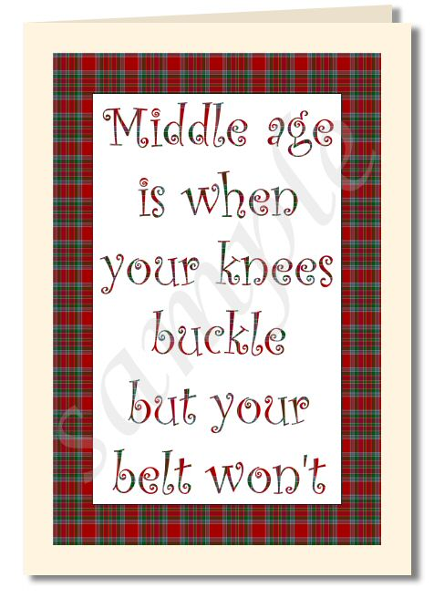 scottish humour card greeting card