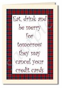 eat drink and be merry card